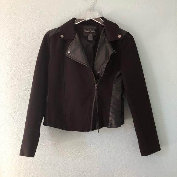 Brandon Thomas Jackets & Blazers - 🌸 Brandon Thomas | cropped black moto jacket
